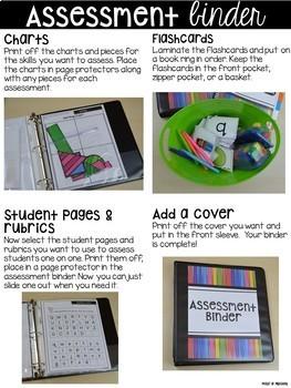 Assessments and Student Portfolios BUNDLE for Preschool, Pre-K, & Kinder