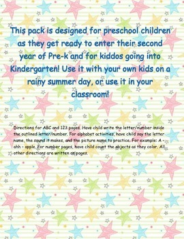 Preschool Kindergarten Prep Pack