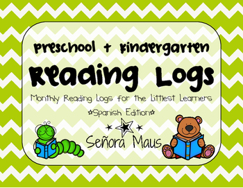 Preschool & Kindergarten Reading Logs {SPANISH EDITION}