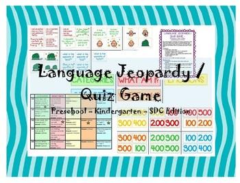 Preschool / Kindergarten / SDC Language Jeopardy / Quiz ga