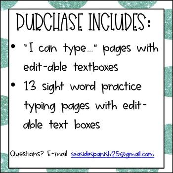 Preschool Kindergarten Typing Practice