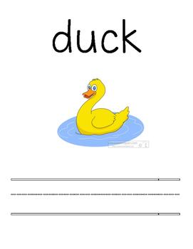 Preschool/Kindergarten Vocabulary Writing