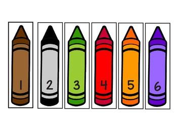 Preschool/Kindergarten crayon color matching file folder