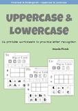 Preschool & Kindergarten uppercase & lowercase recognition