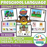 Boom Cards Speech Therapy - Preschool Language Bundle - Di
