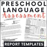 Preschool Language Standardized Evaluation Report Templates