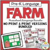 Preschool Language Speech Therapy Kit: Farm BUNDLE (Print