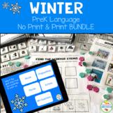 Preschool Language Speech Therapy Bundle: Winter (Print &