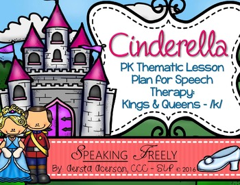PK Language Lesson Plan for Speech Therapy: Kings & Queens