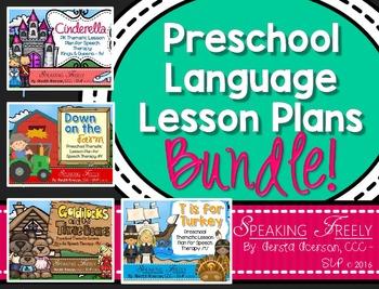 Preschool Language Lesson Plans BUNDLE