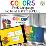 Preschool Language Speech Therapy Kit: Colors BUNDLE (Prin