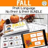 Preschool Language Speech Therapy Kit: Fall BUNDLE Print a