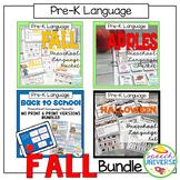 Preschool Language Theme Packet: Fall Bundle