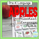 Preschool Language Theme Packet for Apples