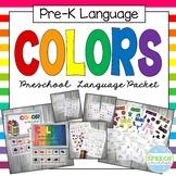 Preschool Language Theme Packet for Colors