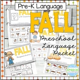 Preschool Language Theme Packet for Fall