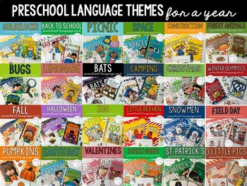 Preschool Language Themes - FOR A YEAR