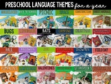 Preschool Language Themes - FOR A YEAR Bundle