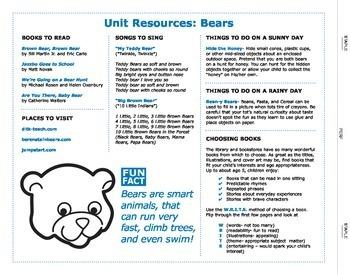 Preschool Launch Mat: Bears!