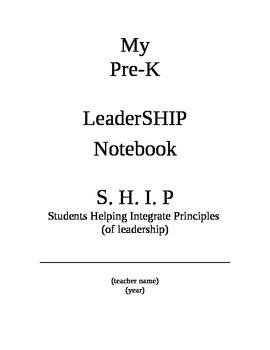 Preschool Leadership binder pages