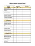 Preschool Leaning Standards Assessment Checklist (homeschool or PreK classroom)