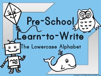 Preschool Learn to Write The Lowercase Alphabet