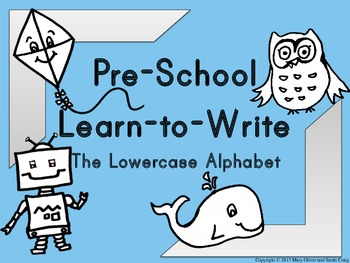Preschool Learn to Write The Lowercase Alphabet