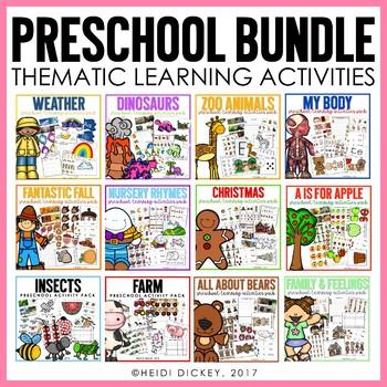 Preschool Learning Activities GROWING BUNDLE