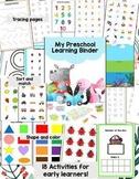 Preschool Learning Binder BUSY Book/Folder | for toddler a