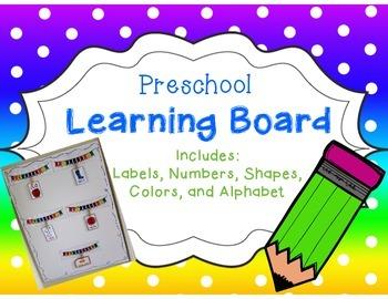 Preschool Learning Board