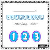 Preschool Learning Folder