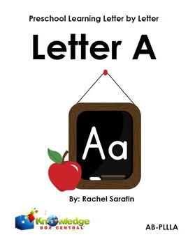 Preschool Learning Letter By Letter:  Letter A
