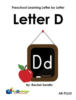 Preschool Learning Letter By Letter:  Letter D