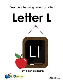 Preschool Learning Letter By Letter:  Letter L