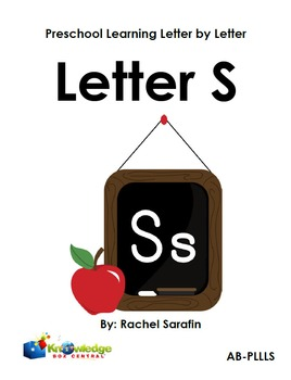 Preschool Learning Letter By Letter:  Letter S