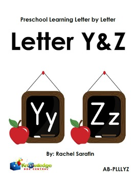 Preschool Learning Letter By Letter:  Letters Y & Z