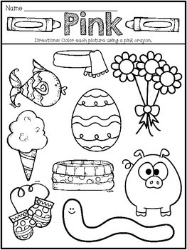Preschool Learning My Colors Mini-Packet Songs and Coloring Printables