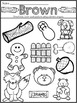 Preschool Learning My Colors Mini-Packet Songs and Colorin