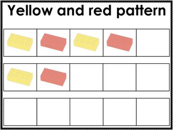 Preschool Legos and Colored Bears Pattern Mats