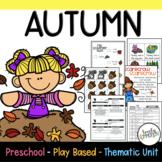 Play-Based Preschool Lesson Plans Fall or Autumn Theme