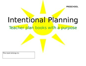Preschool Lesson Plan Book