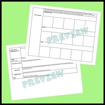 Preschool Lesson Plan Template - EDITABLE FORM