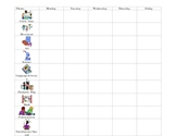 Preschool Lesson Plan form