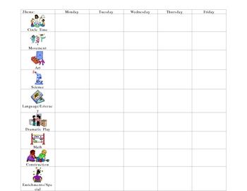 Preschool Lesson Plan form