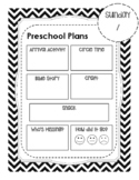 preschool lesson plan template teaching resources