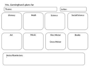 Preschool Lesson Plan Template Teaching Resources Teachers Pay - Lesson plan preschool template