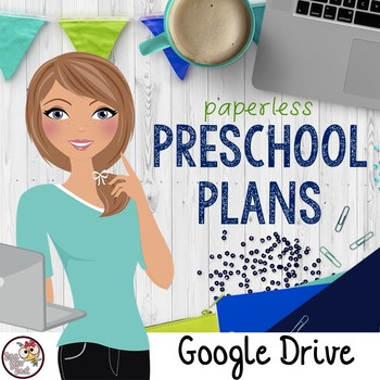 Preschool Lesson Plan Template for Google Drive in OCEAN BRIGHT COLORS
