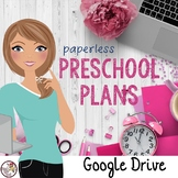 Preschool Lesson Plan Template for Google Drive in PINK THEME