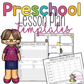 Preschool Lesson Plan Templates