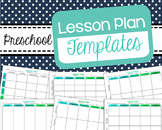 Preschool Lesson Plan Templates - Editable